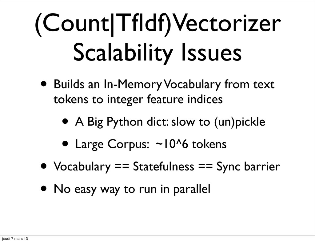 (Count|TfIdf)Vectorizer Scalability Issues • Bu...