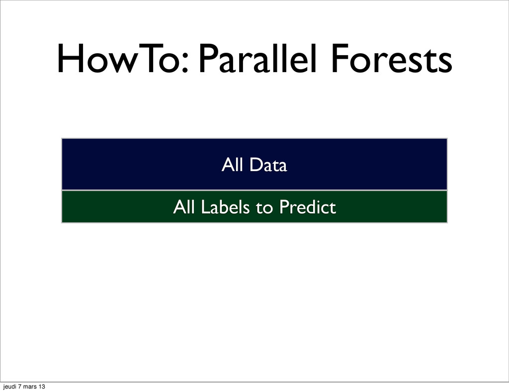 HowTo: Parallel Forests All Labels to Predict A...