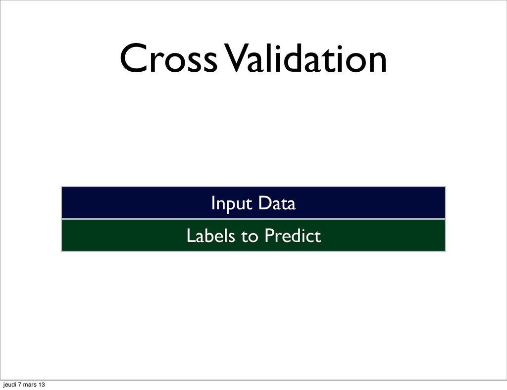Cross Validation Labels to Predict Input Data j...