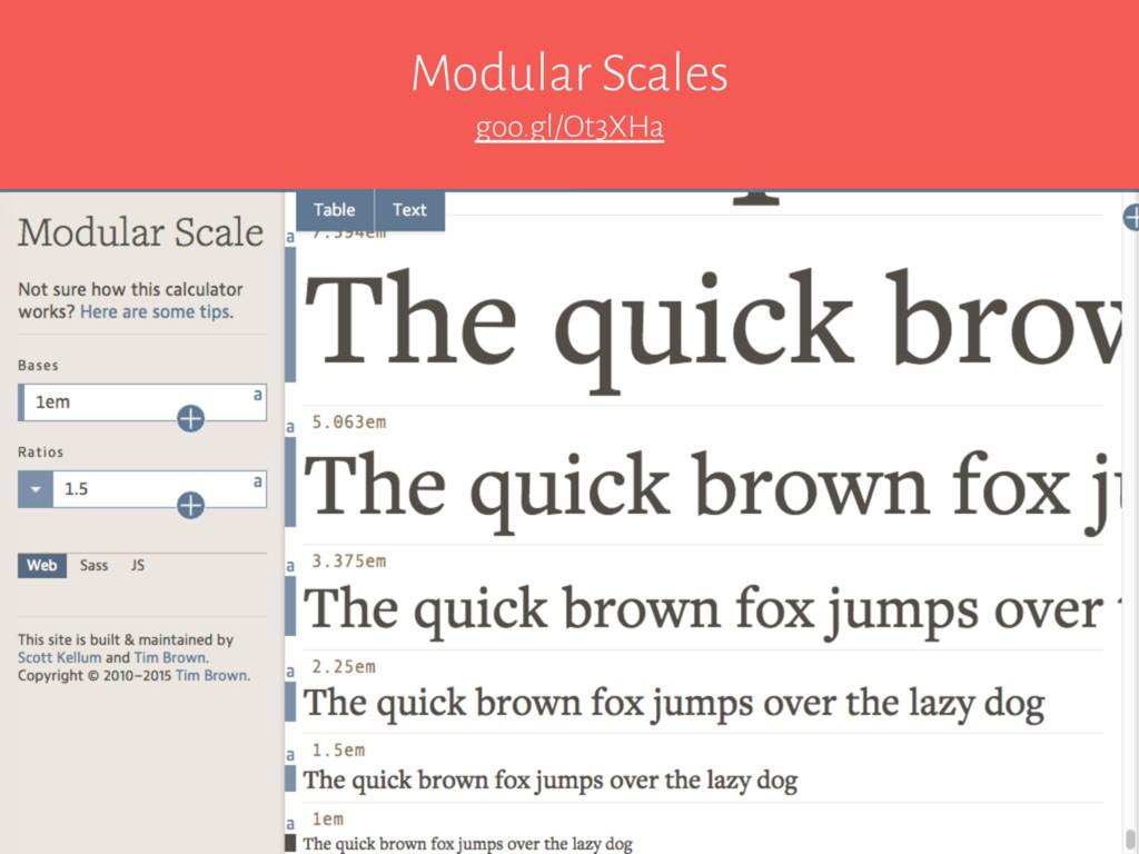 Modular Scales goo.gl/Ot3XHa