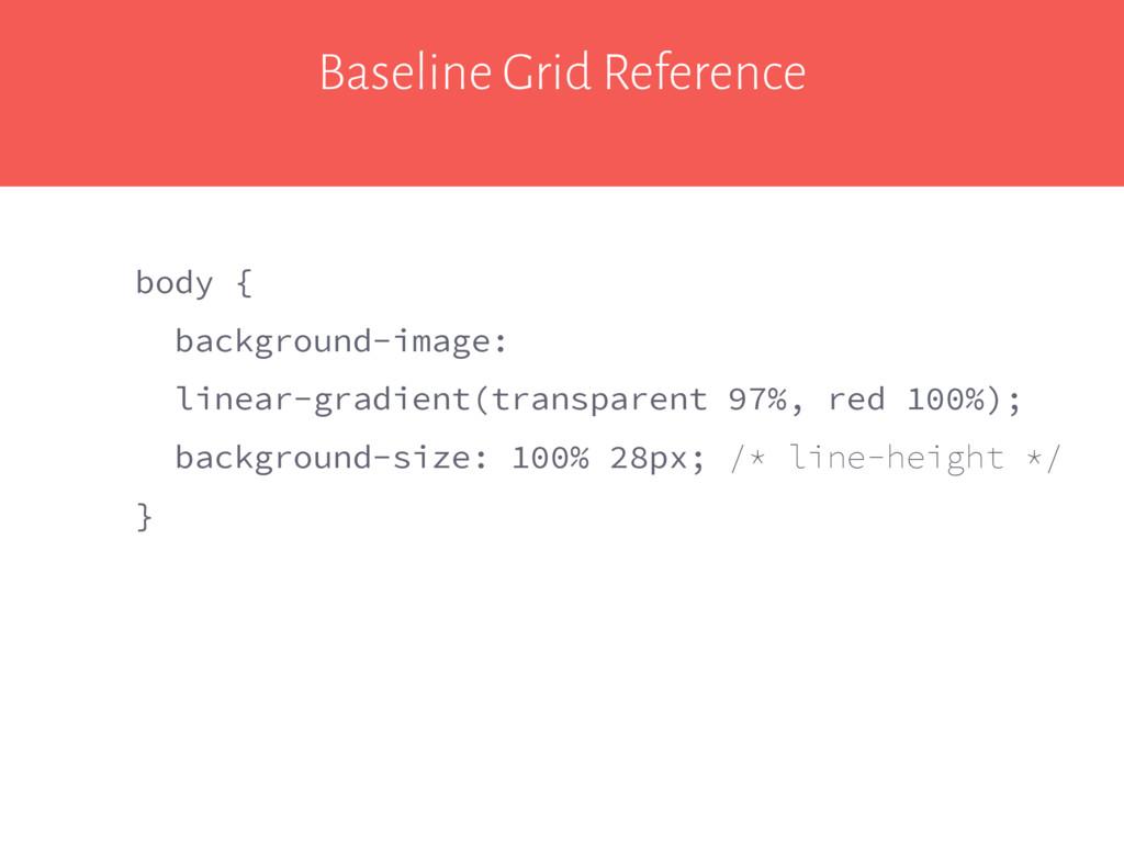 Baseline Grid Reference body { background-image...