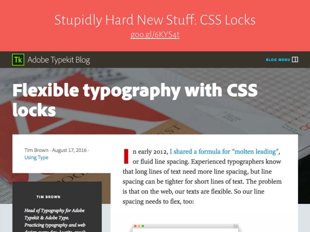 Stupidly Hard New Stuff: CSS Locks goo.gl/6KYS4t
