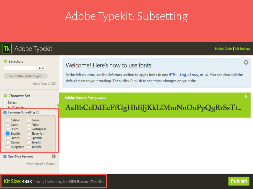 Adobe Typekit: Subsetting