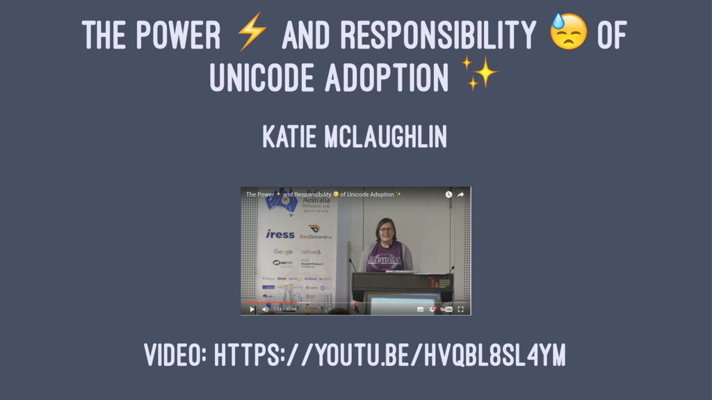 """THE POWER ⚡ AND RESPONSIBILITY """" OF UNICODE ADO..."""