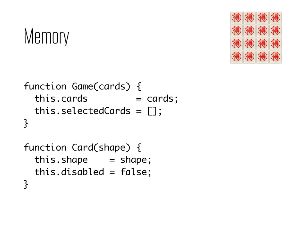 Memory function Game(cards) { this.cards = card...
