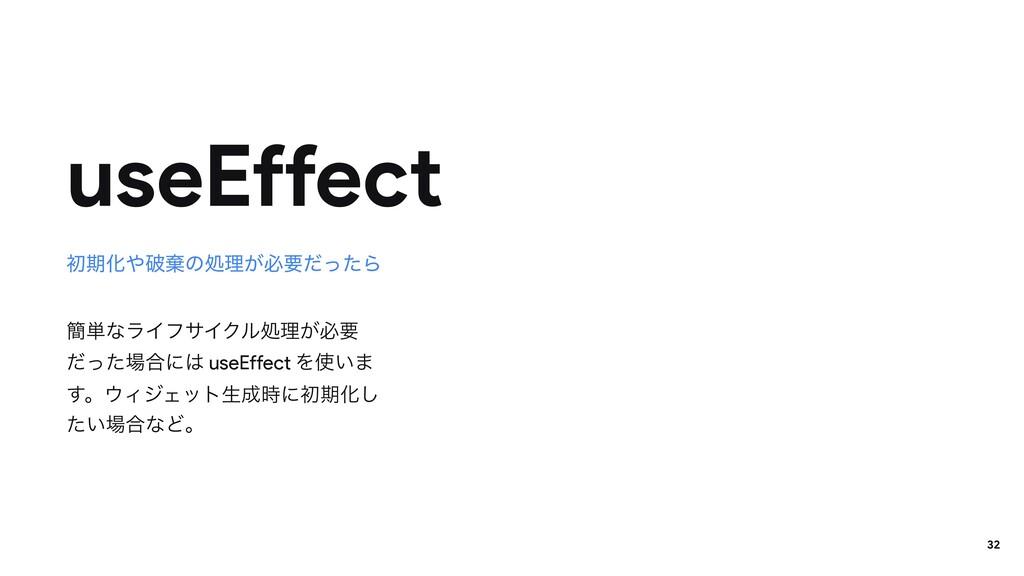 ؆୯ͳϥΠϑαΠΫϧॲཧ͕ඞཁ ͩͬͨ߹ʹ useEffect Λ͍· ͢ɻΟδΣοτ...