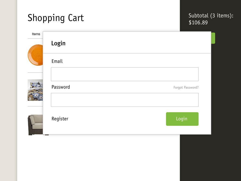 Shopping Cart Checkout Items Price Qty Ventura ...
