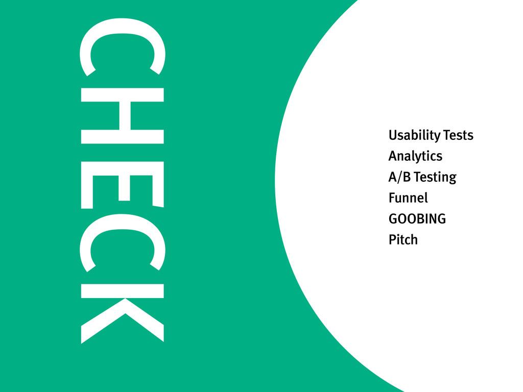 CHECK Usability Tests Analytics A/B Testing Fun...
