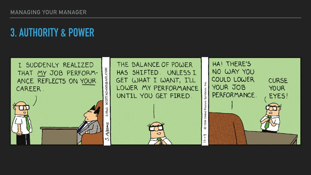 3. AUTHORITY & POWER MANAGING YOUR MANAGER