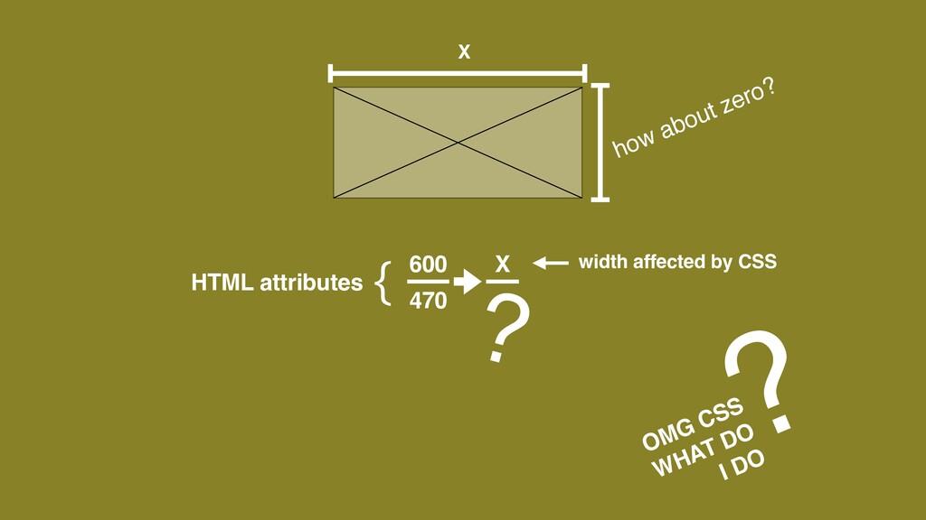 60 0   470 X   X HTML attributes { width affect...