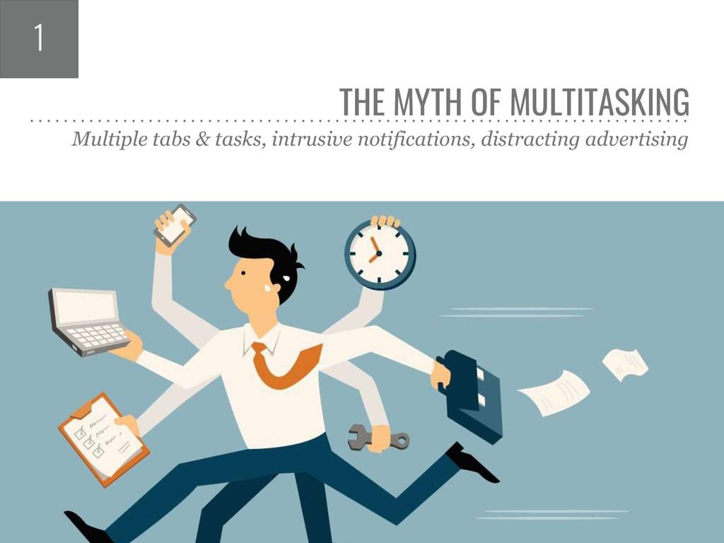 THE MYTH OF MULTITASKING Multiple tabs & tasks,...