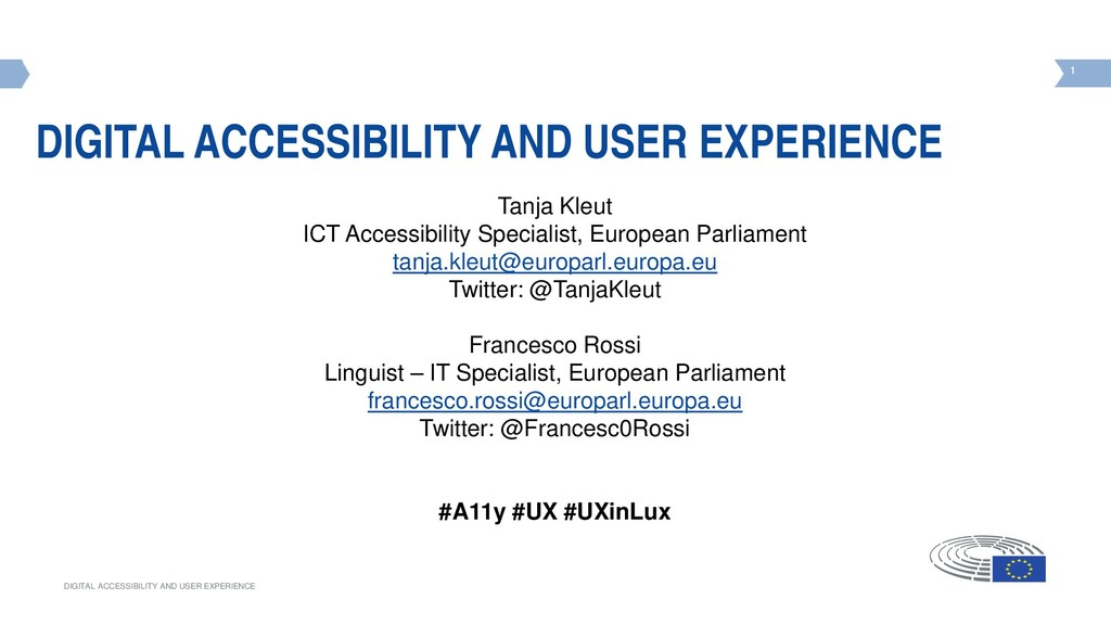 1 DIGITAL ACCESSIBILITY AND USER EXPERIENCE 1 D...