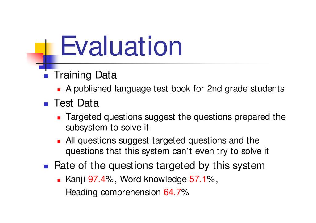 """Evaluation """" Training Data """" A published langua..."""