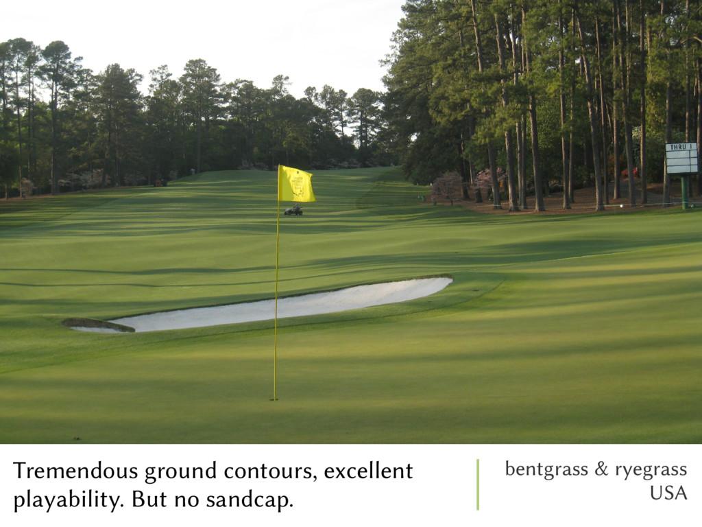 Tremendous ground contours, excellent playabili...