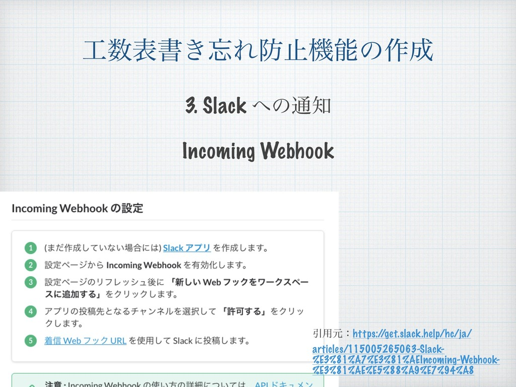 දॻ͖Εࢭػͷ࡞ Incoming Webhook Ҿ༻ݩɿhttps:/ /ge...