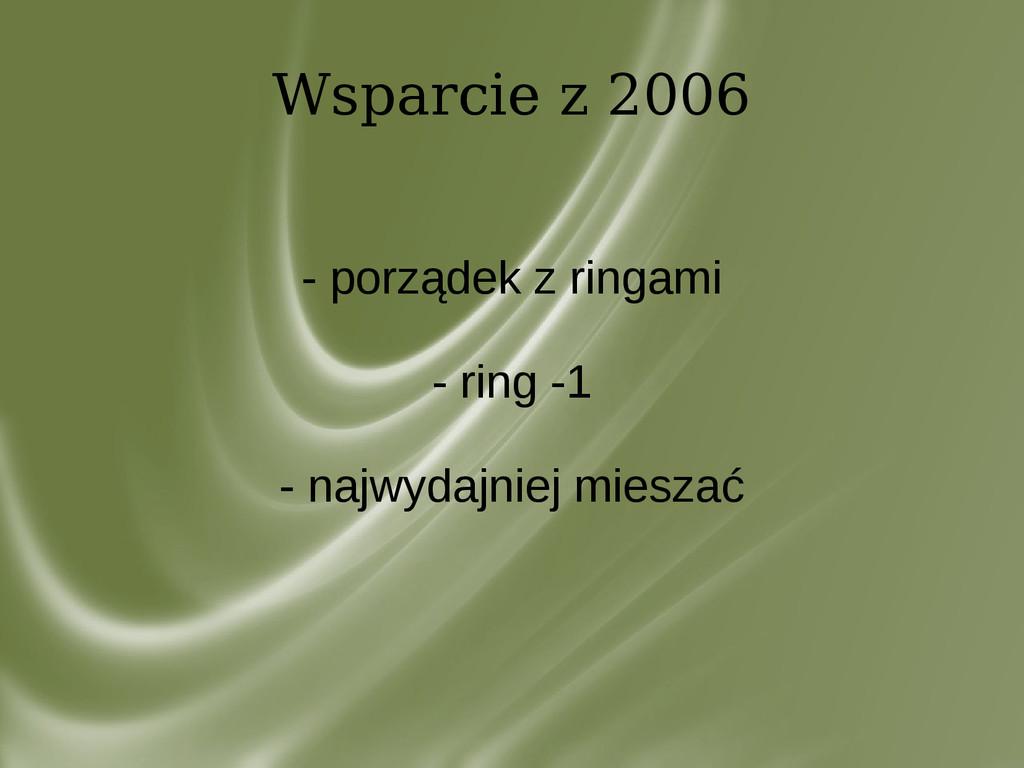 Wsparcie z 2006 - porządek z ringami - ring -1 ...