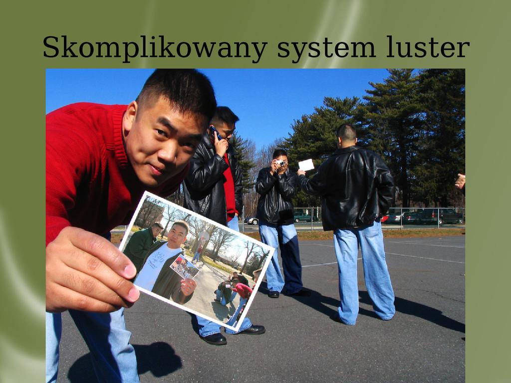 Skomplikowany system luster sad