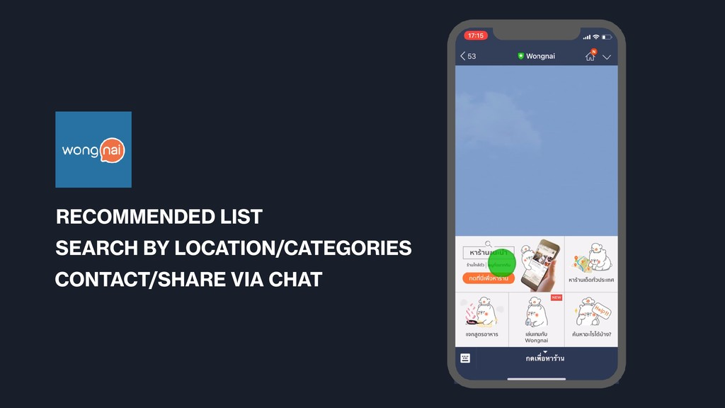 RECOMMENDED LIST SEARCH BY LOCATION/CATEGORIES ...