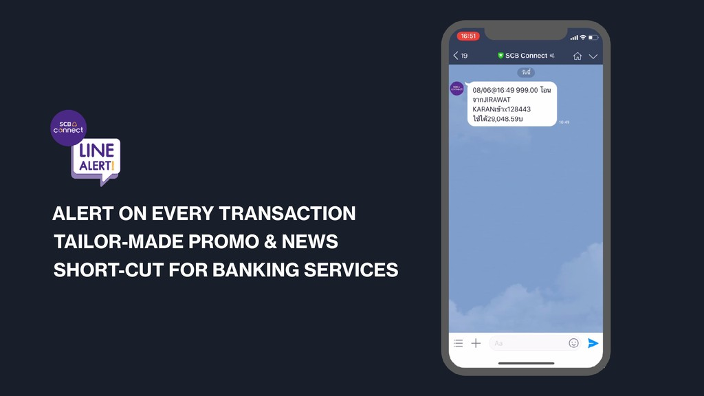 ALERT ON EVERY TRANSACTION TAILOR-MADE PROMO & ...