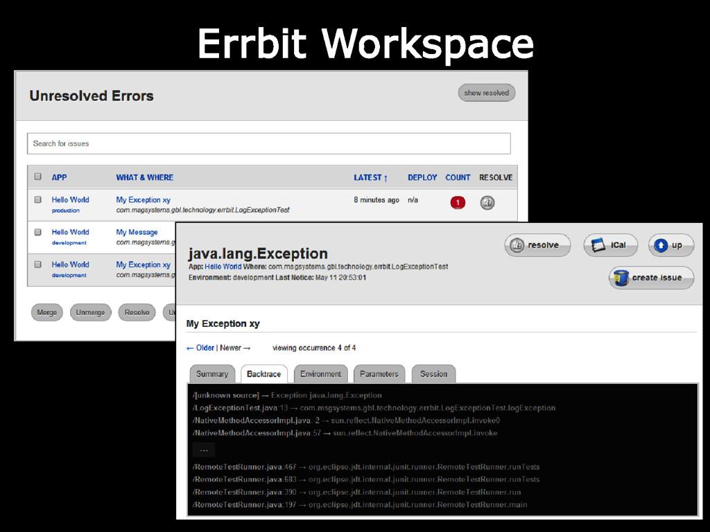 Errbit Workspace