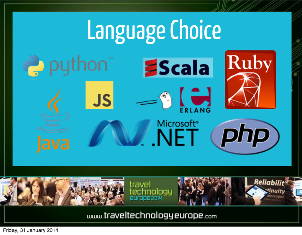Language Choice Friday, 31 January 2014