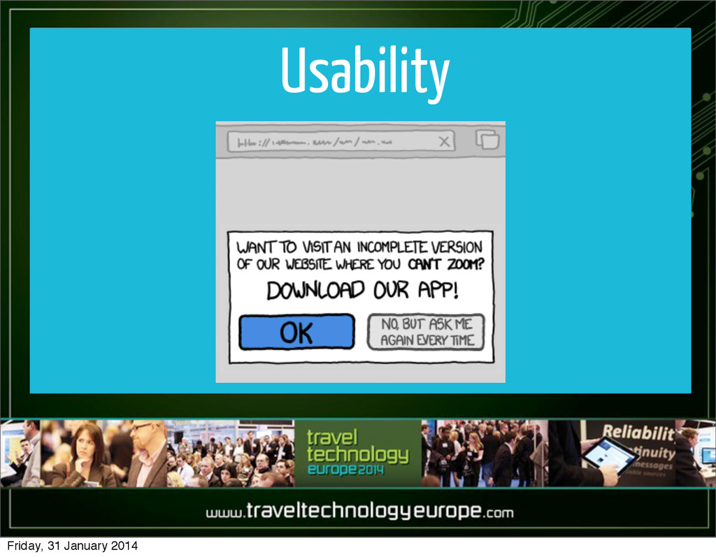 Usability Friday, 31 January 2014
