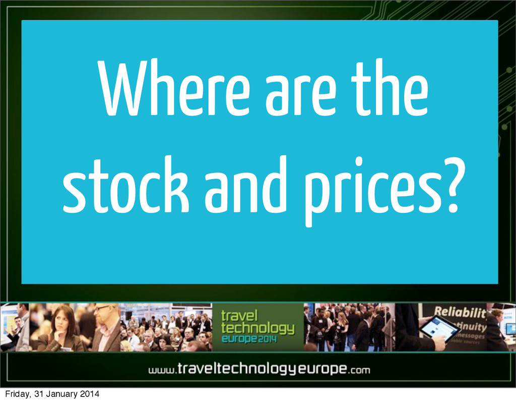Where are the stock and prices? Friday, 31 Janu...