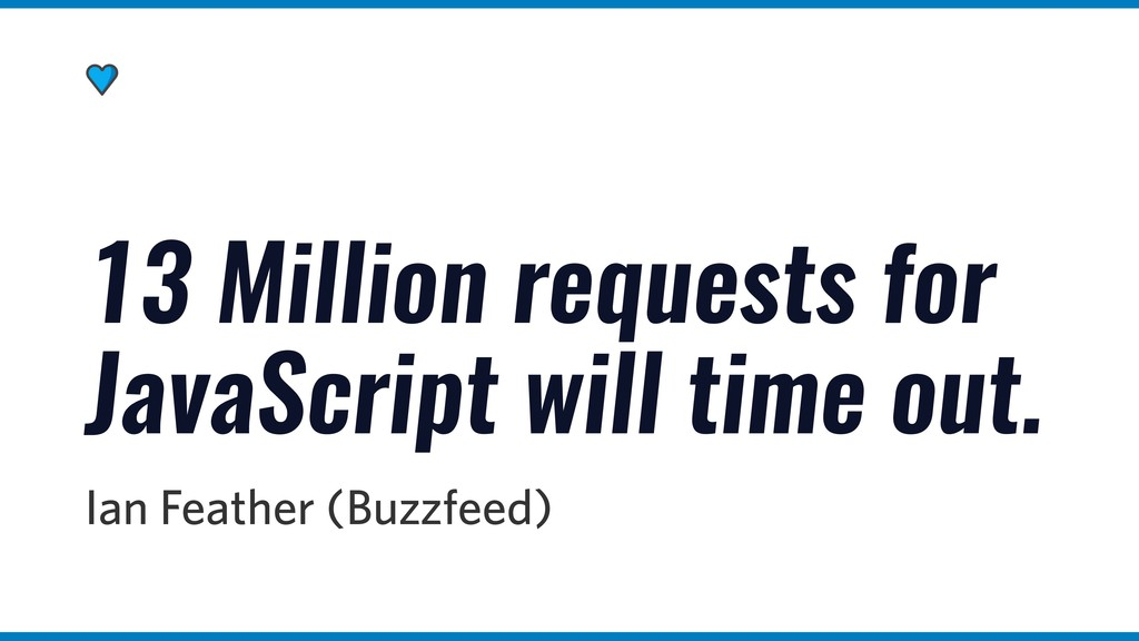 13 Million requests for JavaScript will time ou...