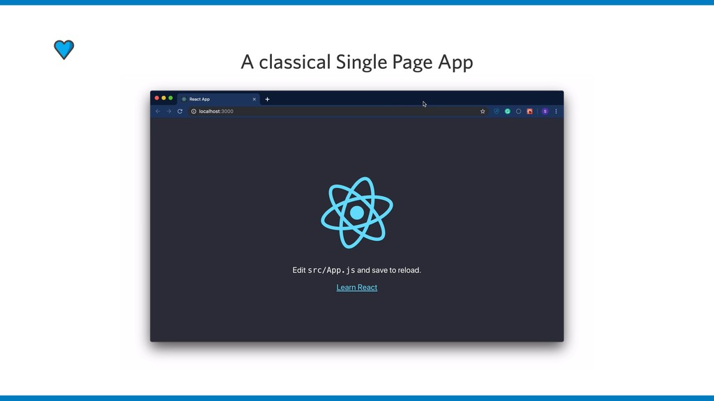 A classical Single Page App