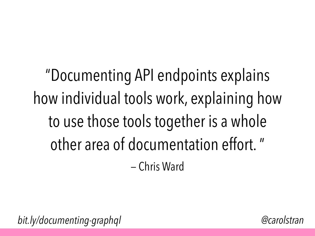 """""""Documenting API endpoints explains how individ..."""