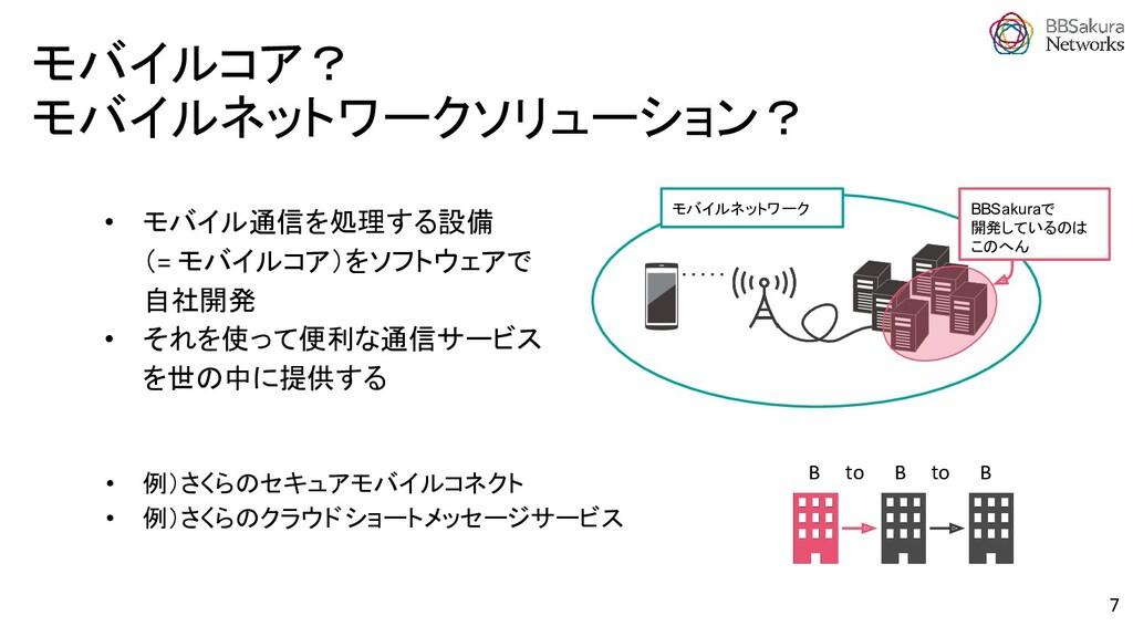 • モバイル通信を処理する設備 (= モバイルコア)をソフトウェアで 自社開発 • それを使っ...