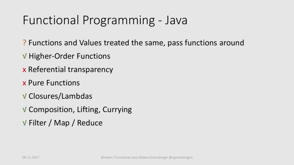 Functional Programming - Java ? Functions and V...