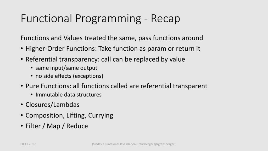 Functional Programming - Recap Functions and Va...
