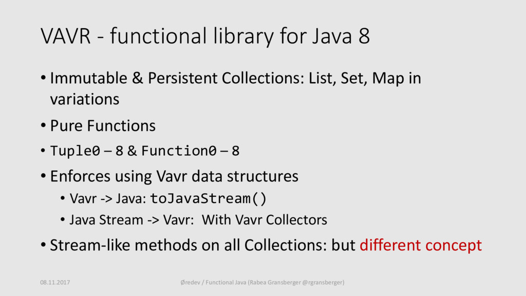 VAVR - functional library for Java 8 • Immutabl...