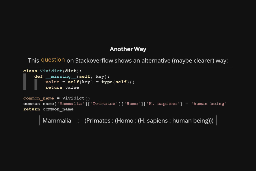 Another Way This on Stackoverflow shows an alte...