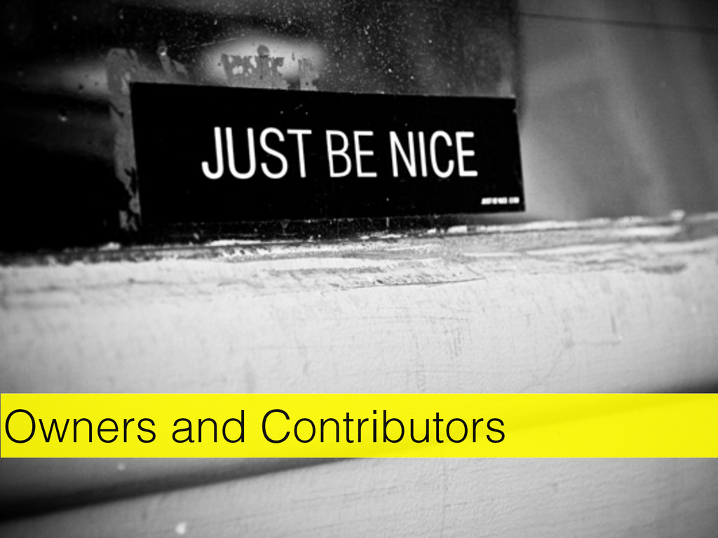 Owners and Contributors