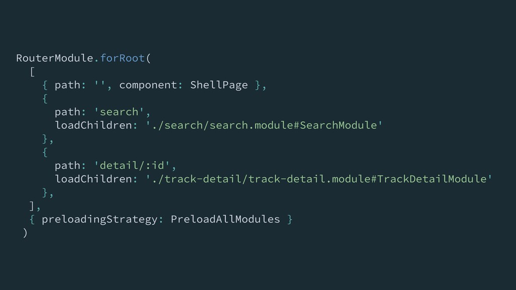 RouterModule.forRoot( [ { path: '', component: ...