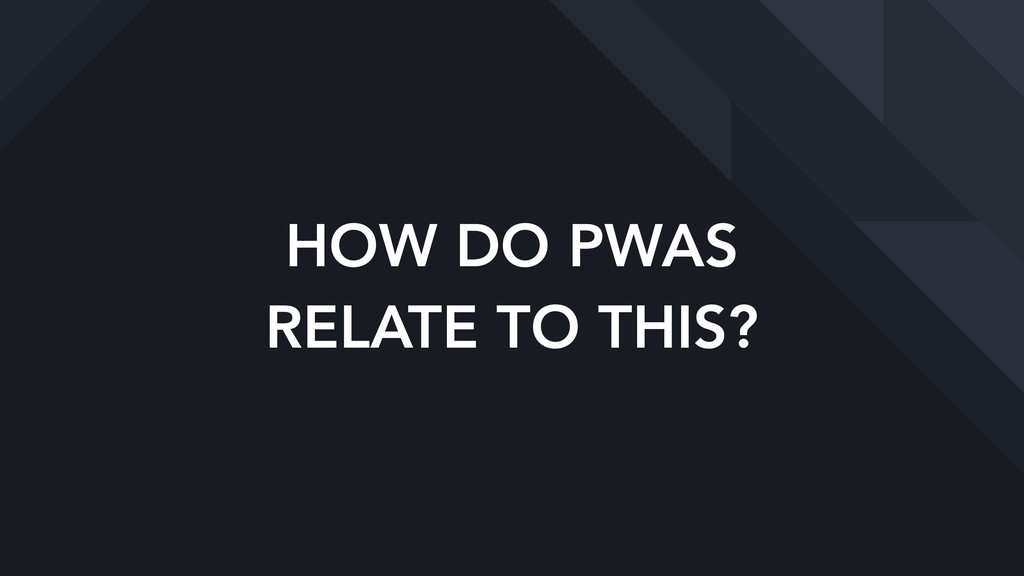 HOW DO PWAS  RELATE TO THIS?