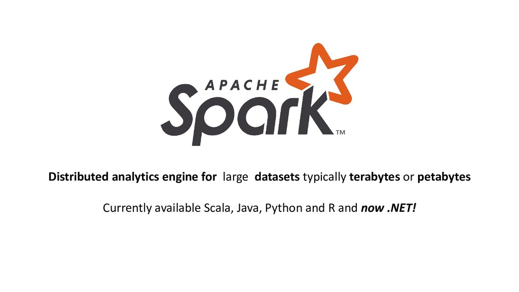 Distributed analytics engine for large datasets...