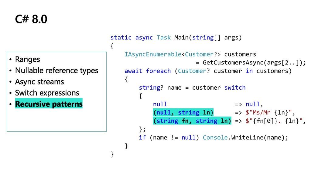 static async Task Main(string[] args) { IAsyncE...