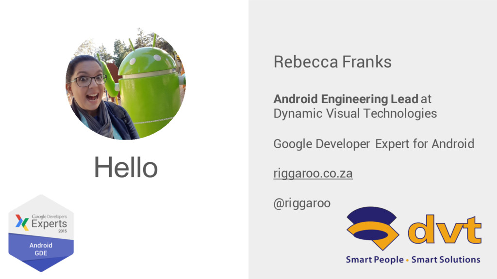 Hello Rebecca Franks Android Engineering Lead a...