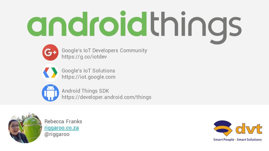 Rebecca Franks riggaroo.co.za @riggaroo Google'...