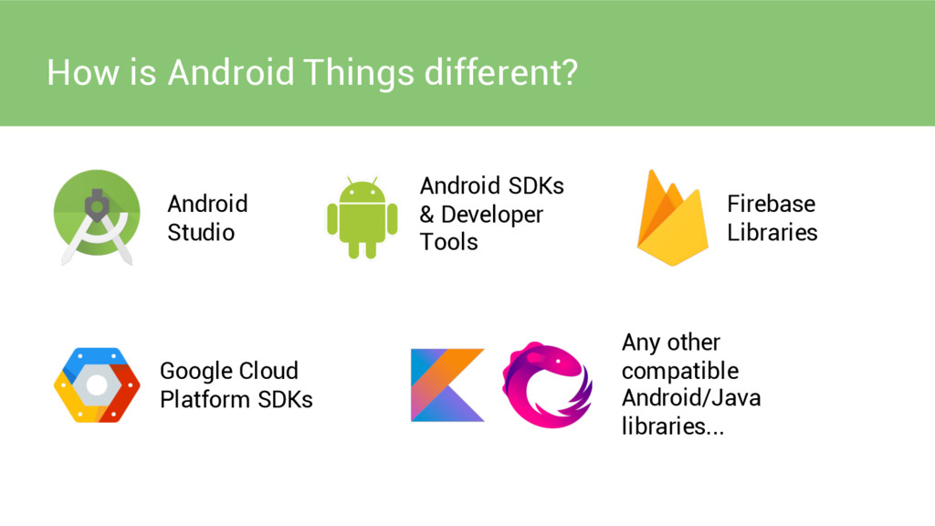 How is Android Things different? Android Studio...