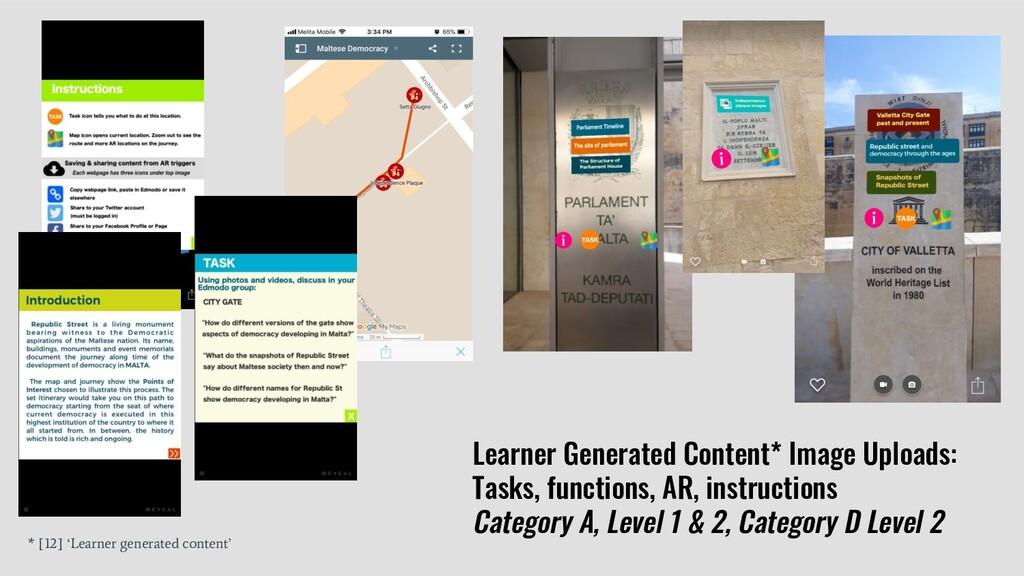 Learner Generated Content* Image Uploads: Tasks...