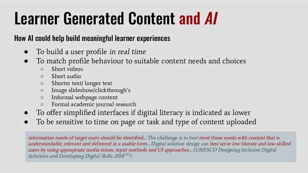 Learner Generated Content and AI How AI could h...