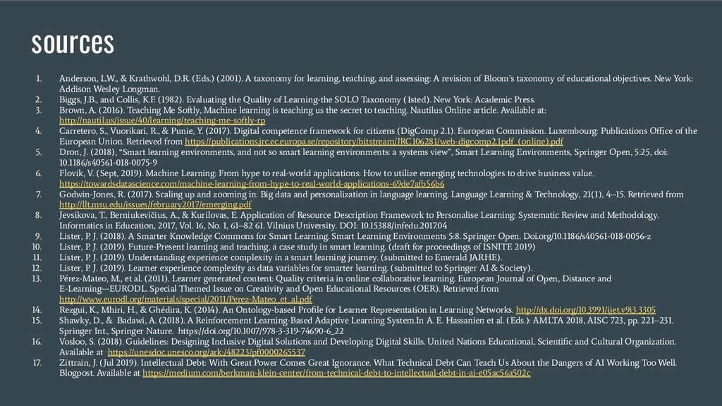 sources 1. Anderson, L.W., & Krathwohl, D.R. (E...