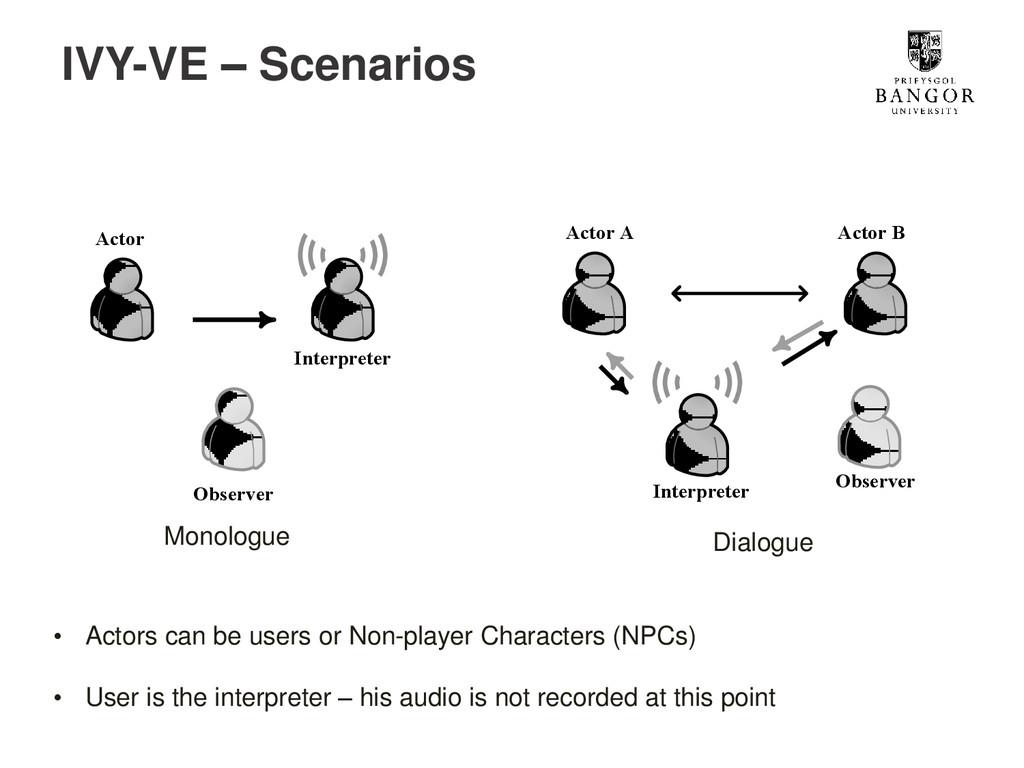 IVY-VE – Scenarios Interpreter Actor Observer I...