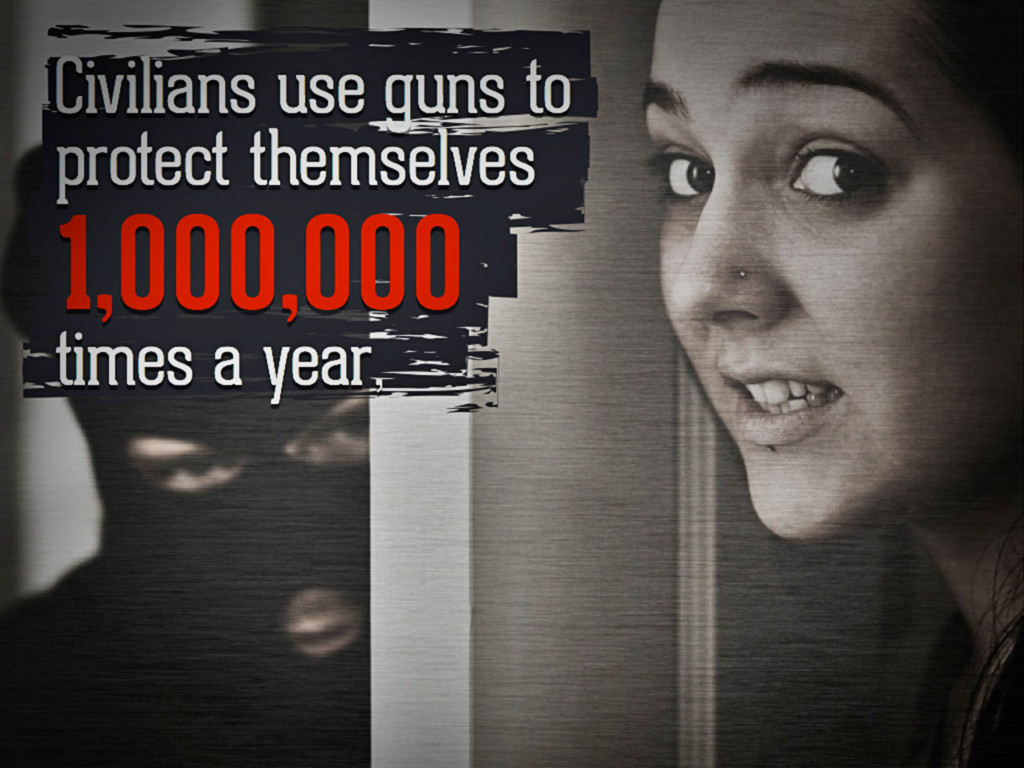 Civilians use guns to protect themselves 1,000,...