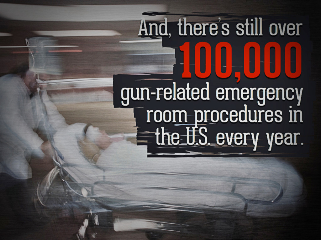 And, there's still over 100,000 gun-related eme...
