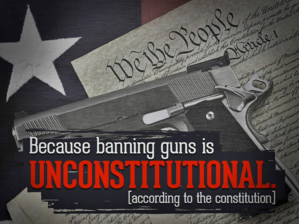 Because banning guns is unconstitutional. (acco...